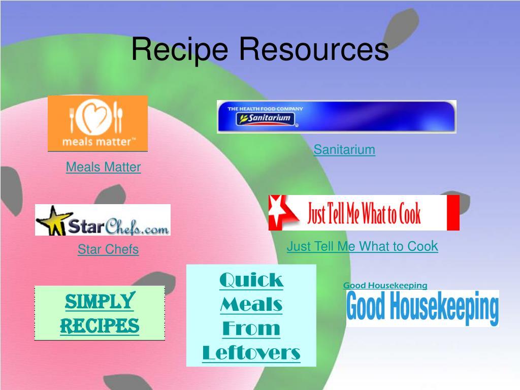 Recipe Resources