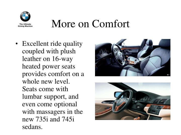More on Comfort