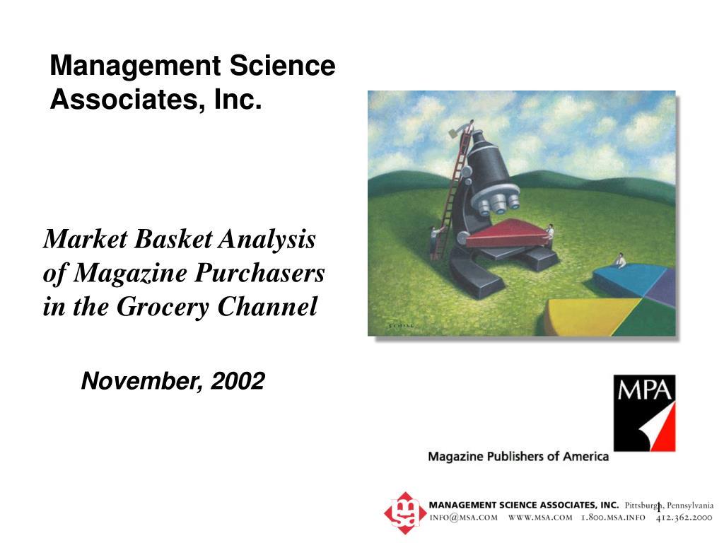 Management Science Associates, Inc.