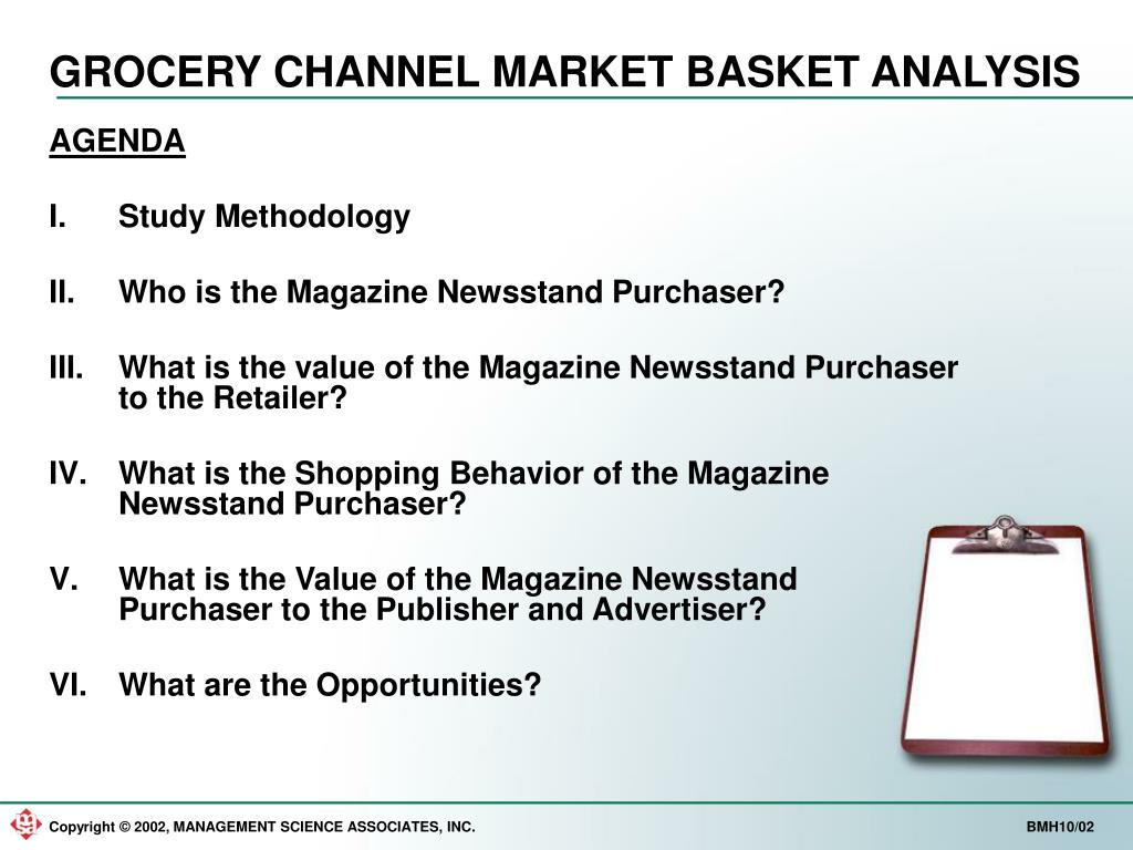 GROCERY CHANNEL MARKET BASKET ANALYSIS