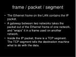 frame packet segment