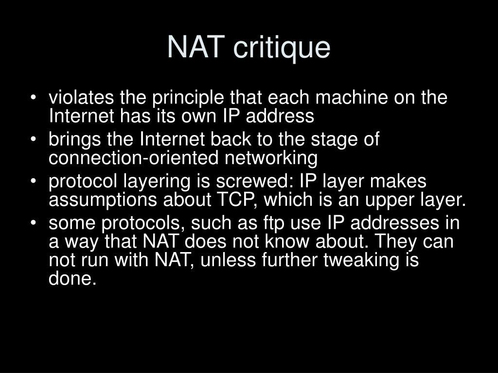 NAT critique