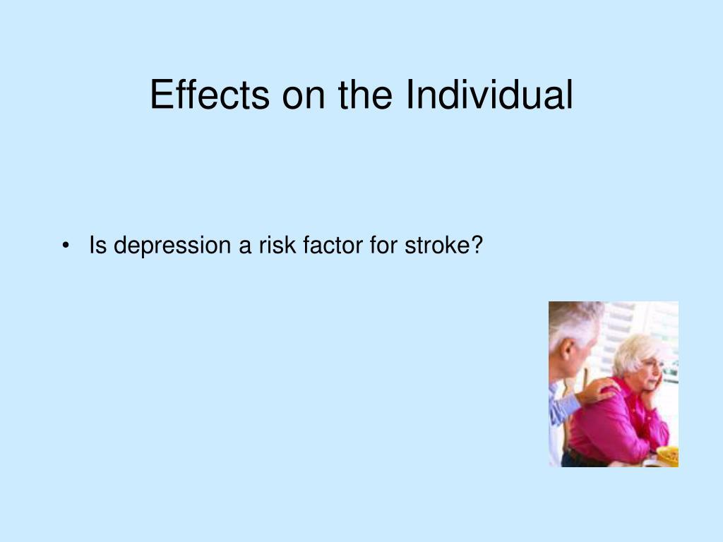 Is depression a risk factor for stroke?