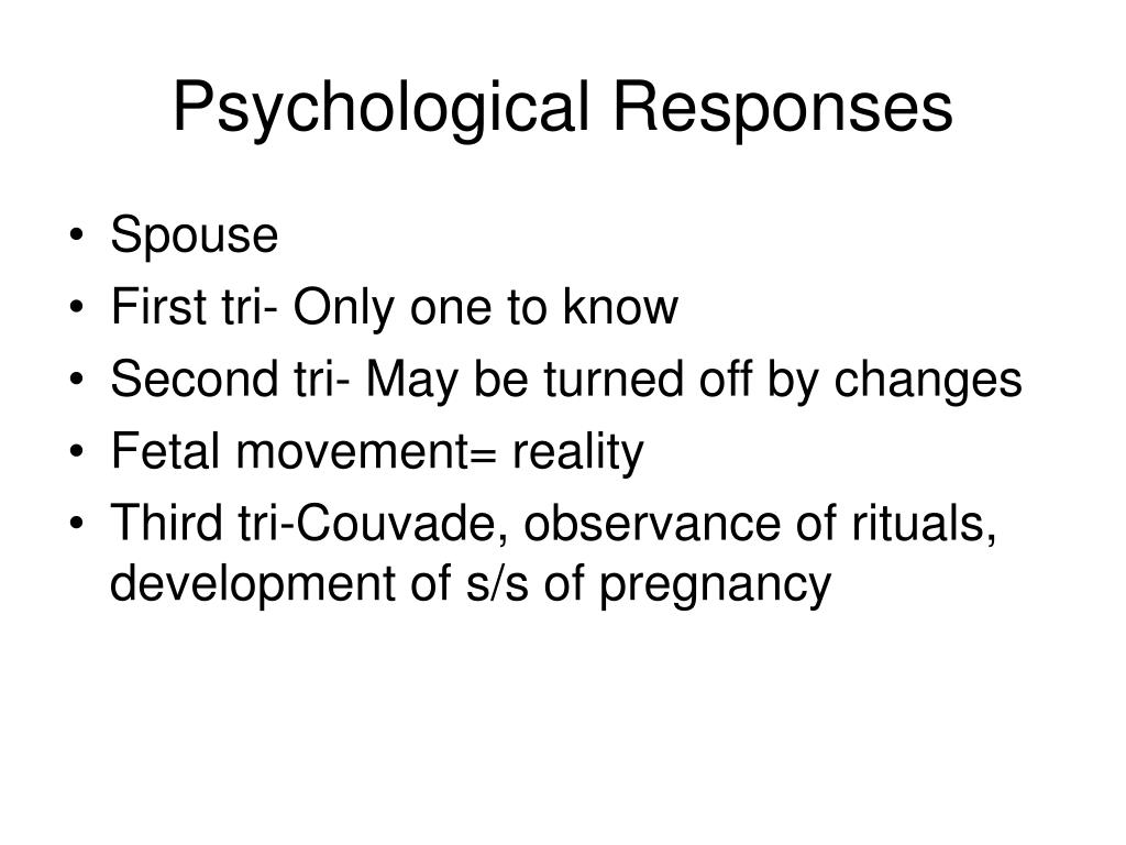 Psychological Responses