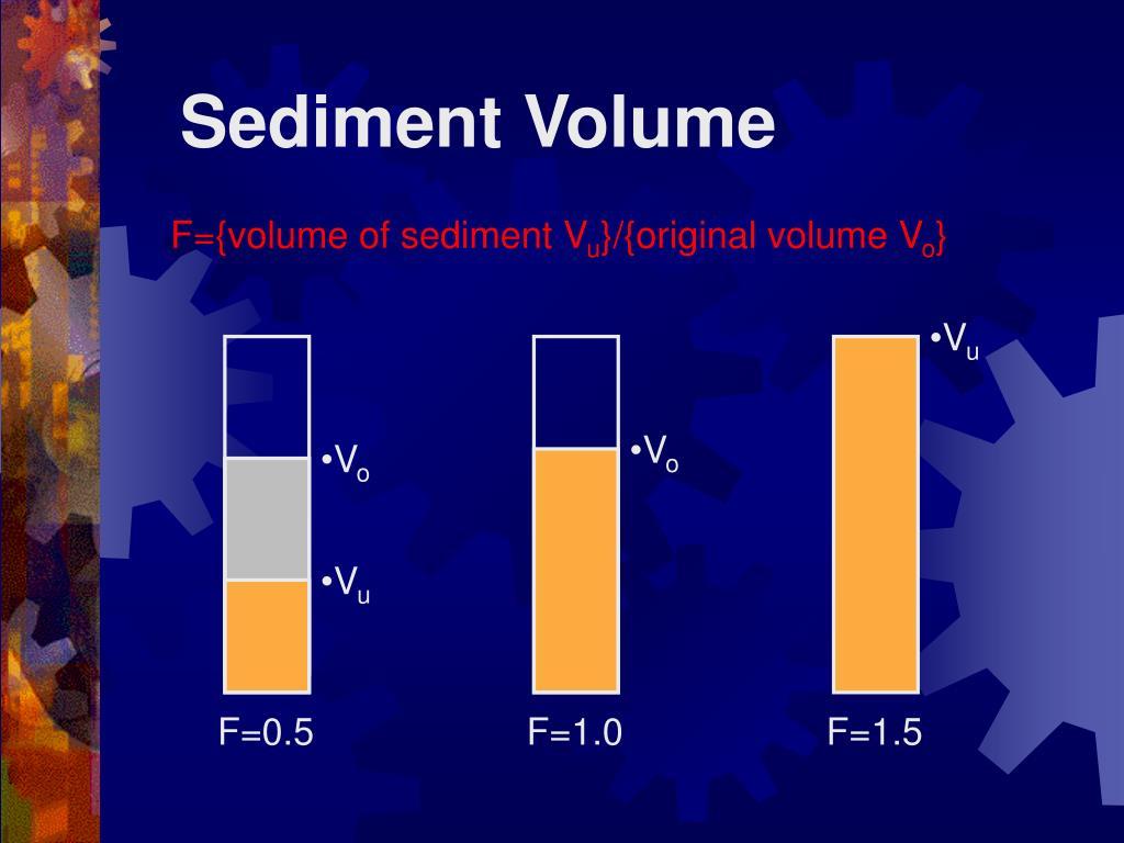 Sediment Volume
