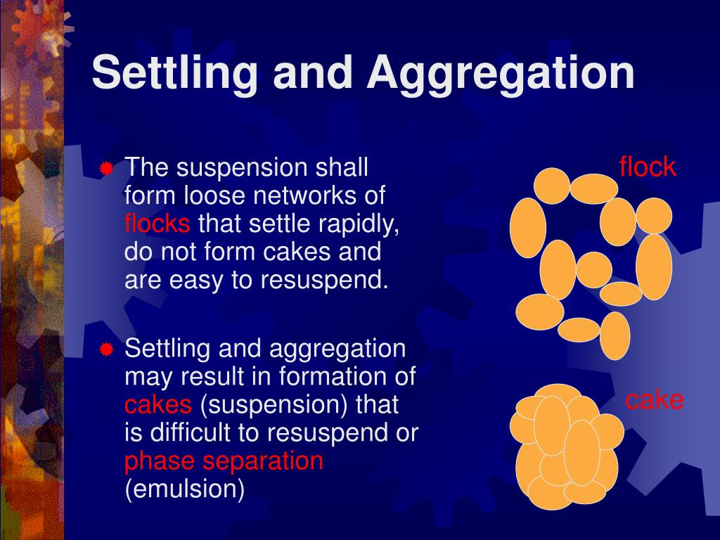 Settling and Aggregation