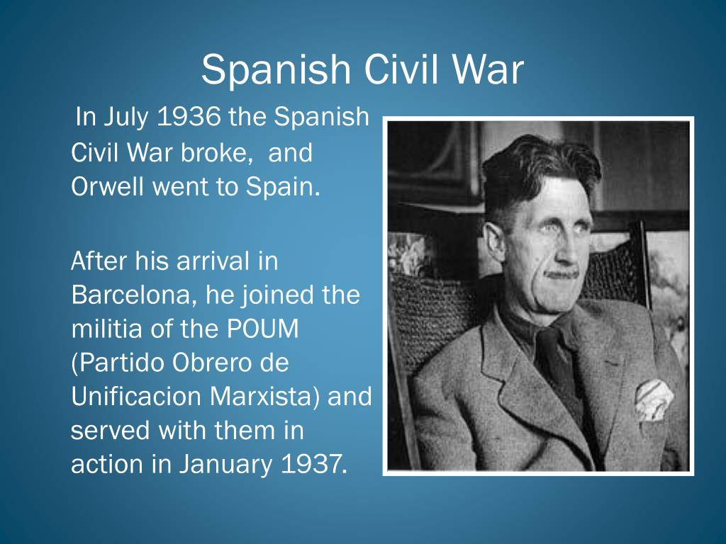 george orwell spanish civil war essays George orwell's five greatest essays the profession of writing to his views on the spanish civil war and british open culture editor dan colman scours the.