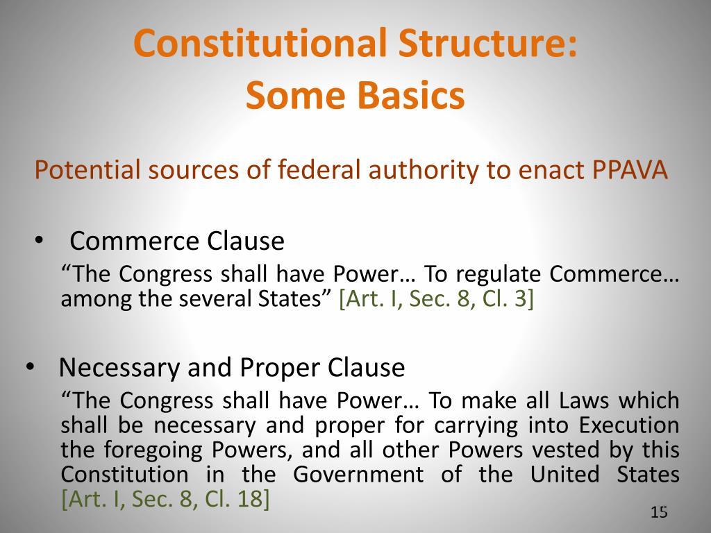 Constitutional Structure: