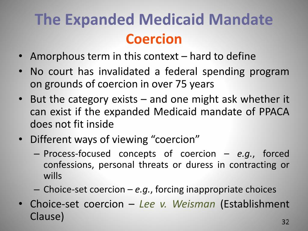 The Expanded Medicaid Mandate