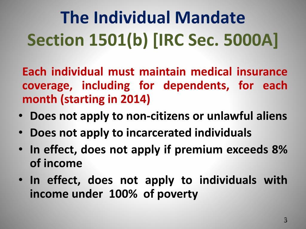 The Individual Mandate