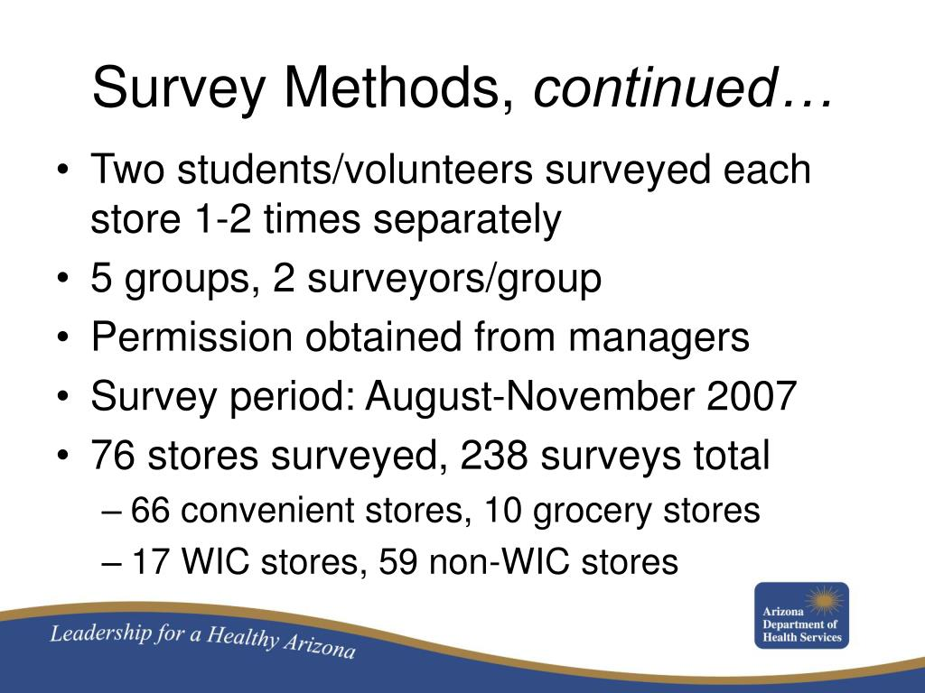 Survey Methods,