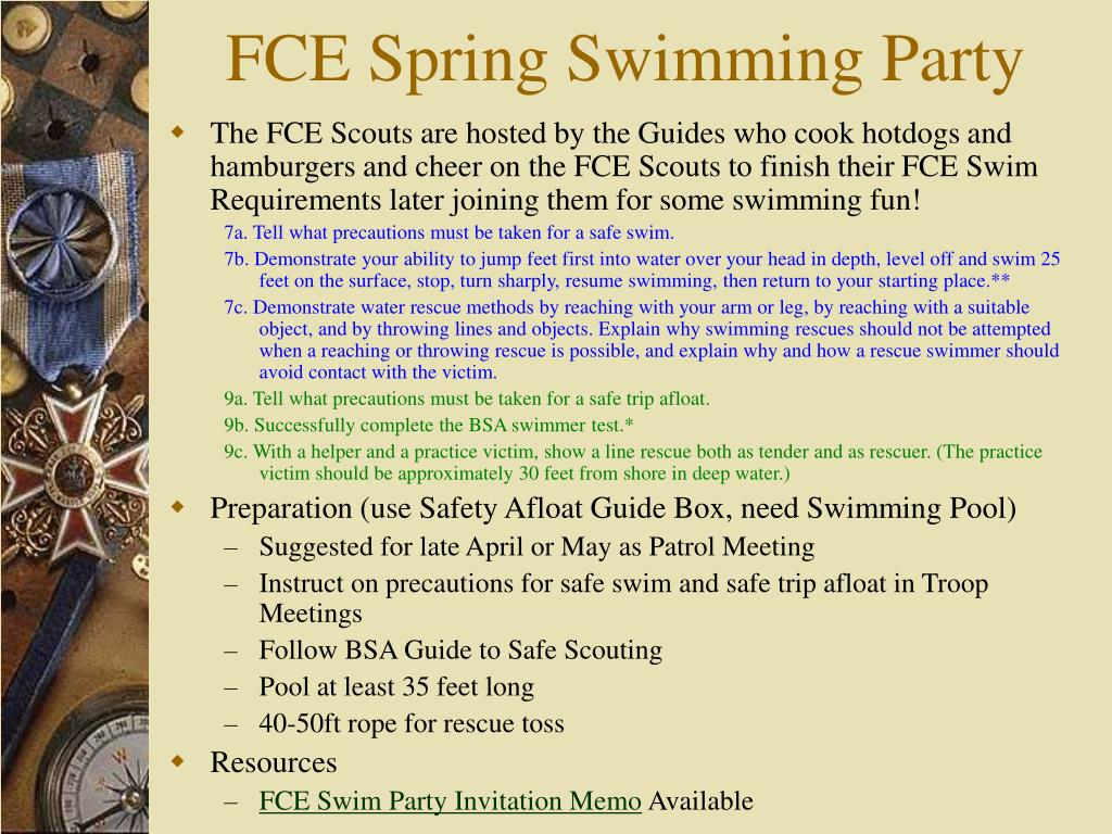 FCE Spring Swimming Party