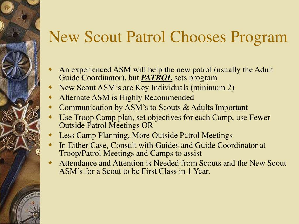 New Scout Patrol Chooses Program