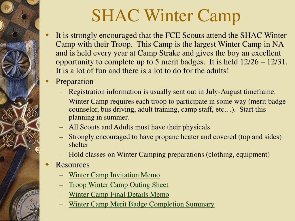 SHAC Winter Camp