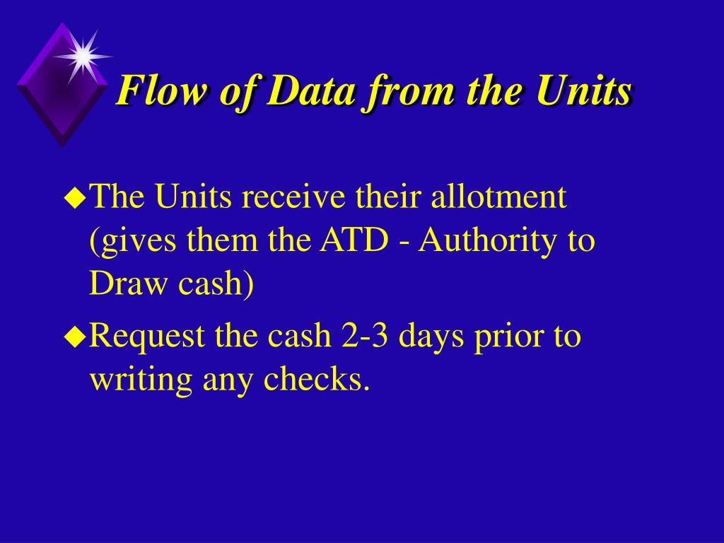 Flow of Data from the Units