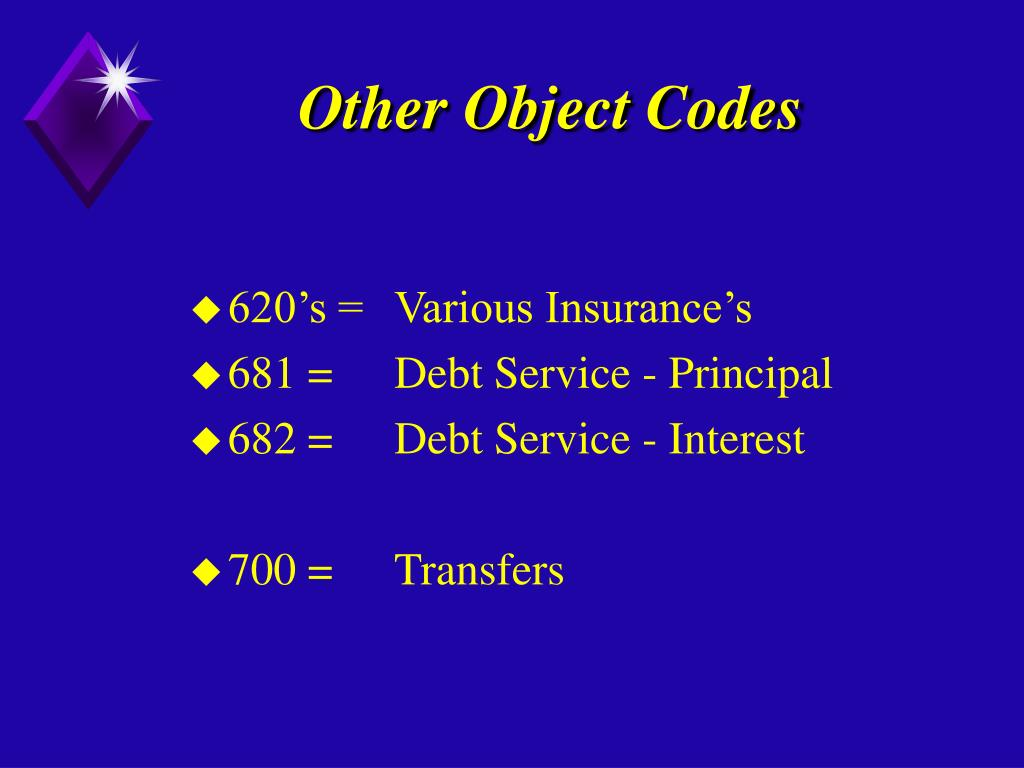 Other Object Codes