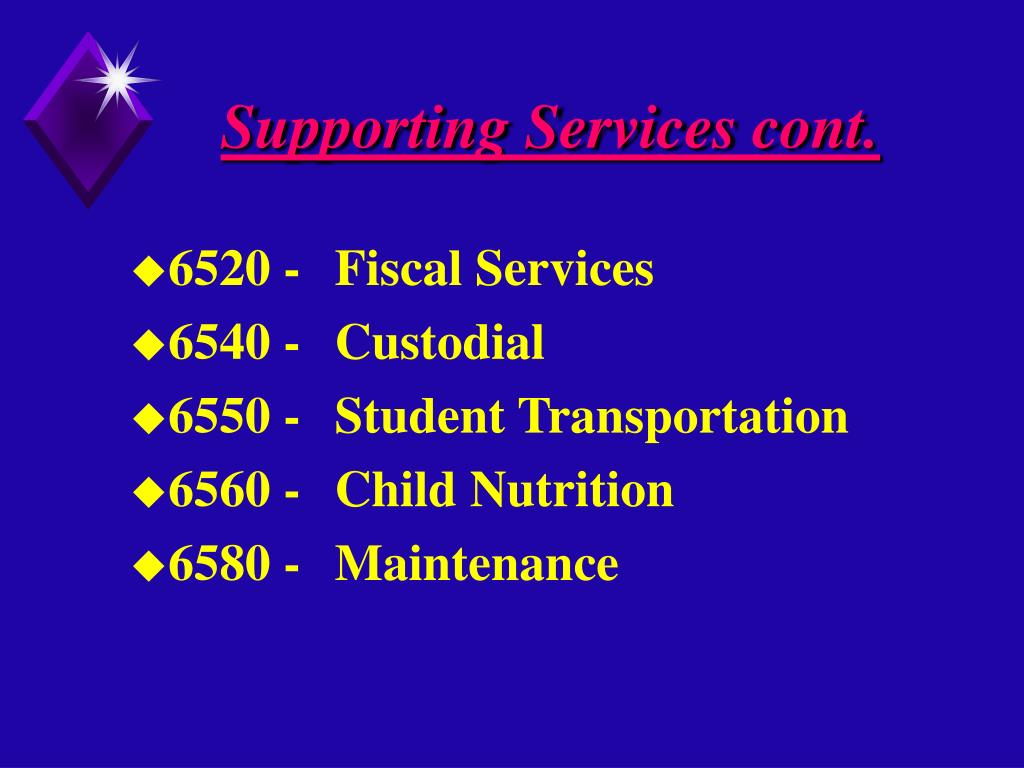 Supporting Services cont.