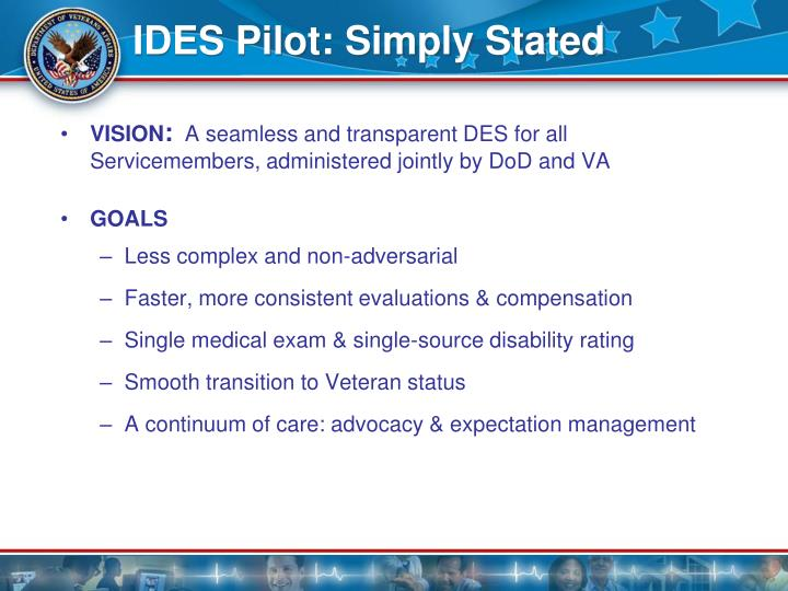 Ides pilot simply stated