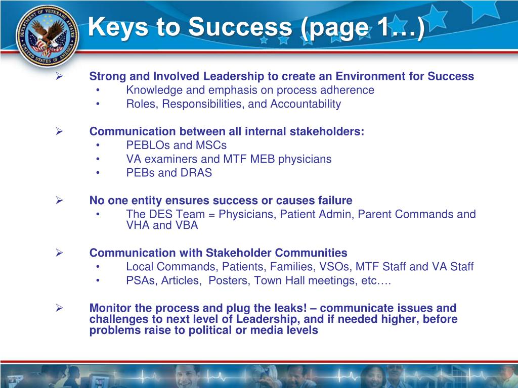Keys to Success (page 1…)