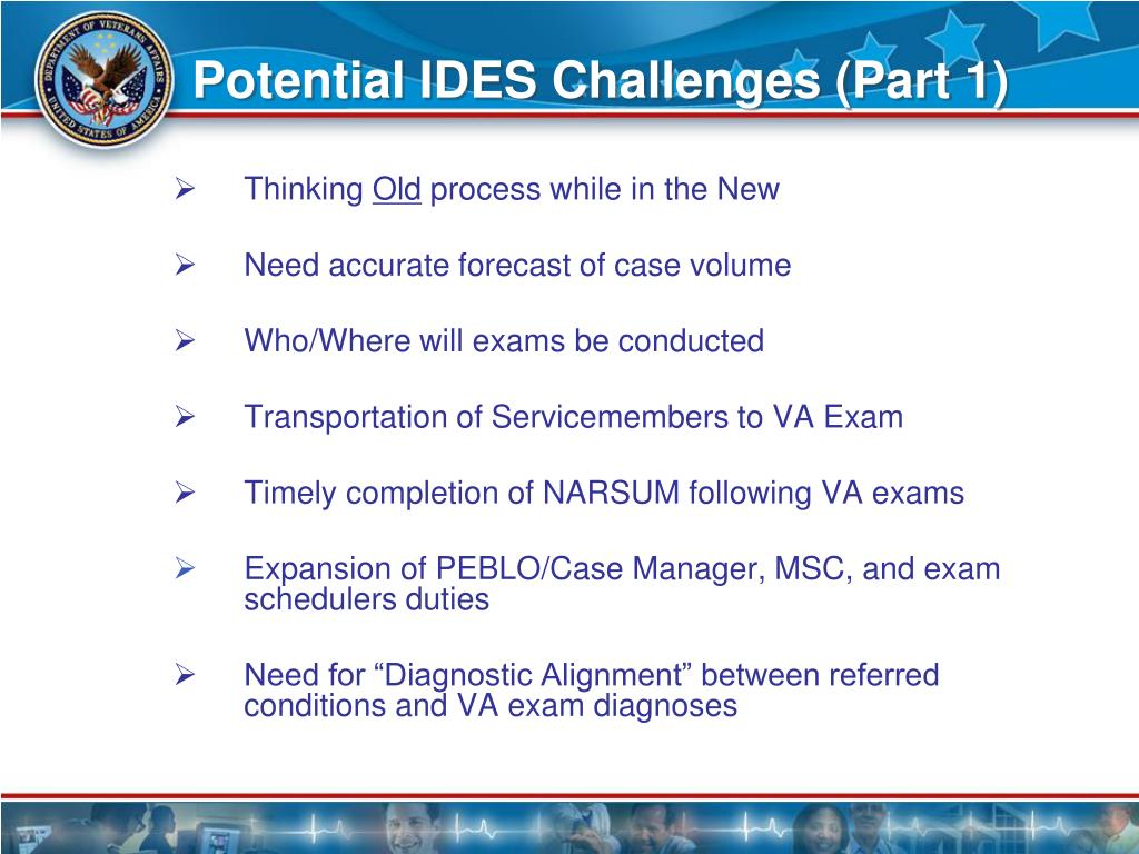 Potential IDES Challenges (Part 1)