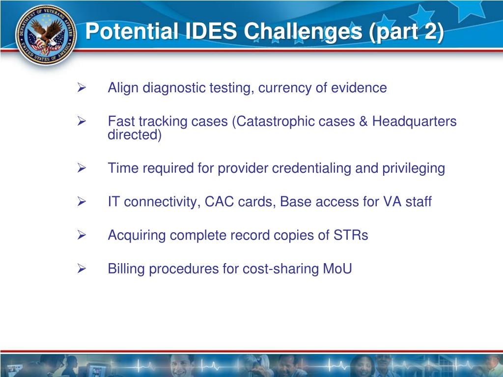 Potential IDES Challenges (part 2)