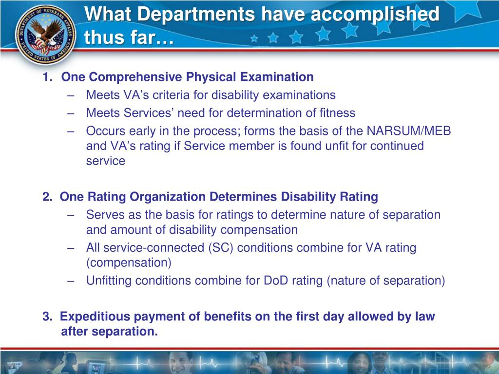 What Departments have accomplished thus far…