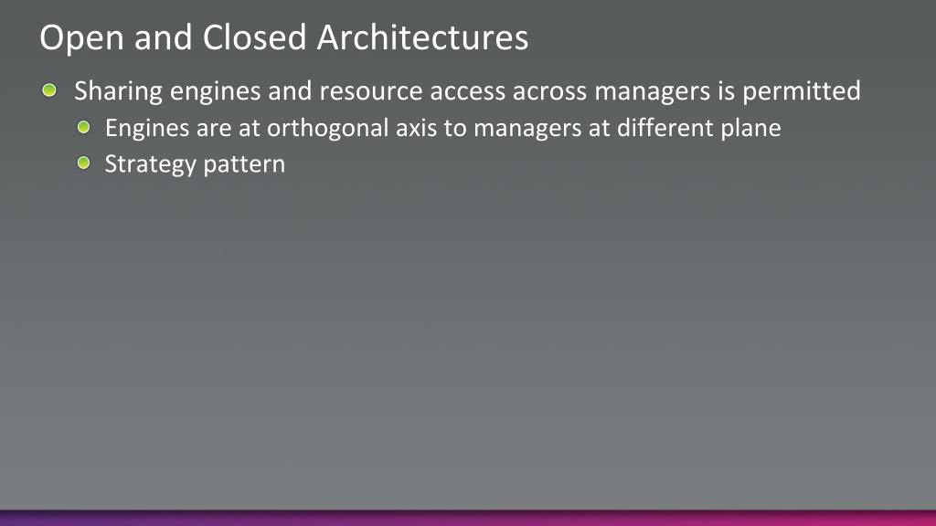 Open and Closed Architectures