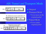 ah tunnel and transport mode