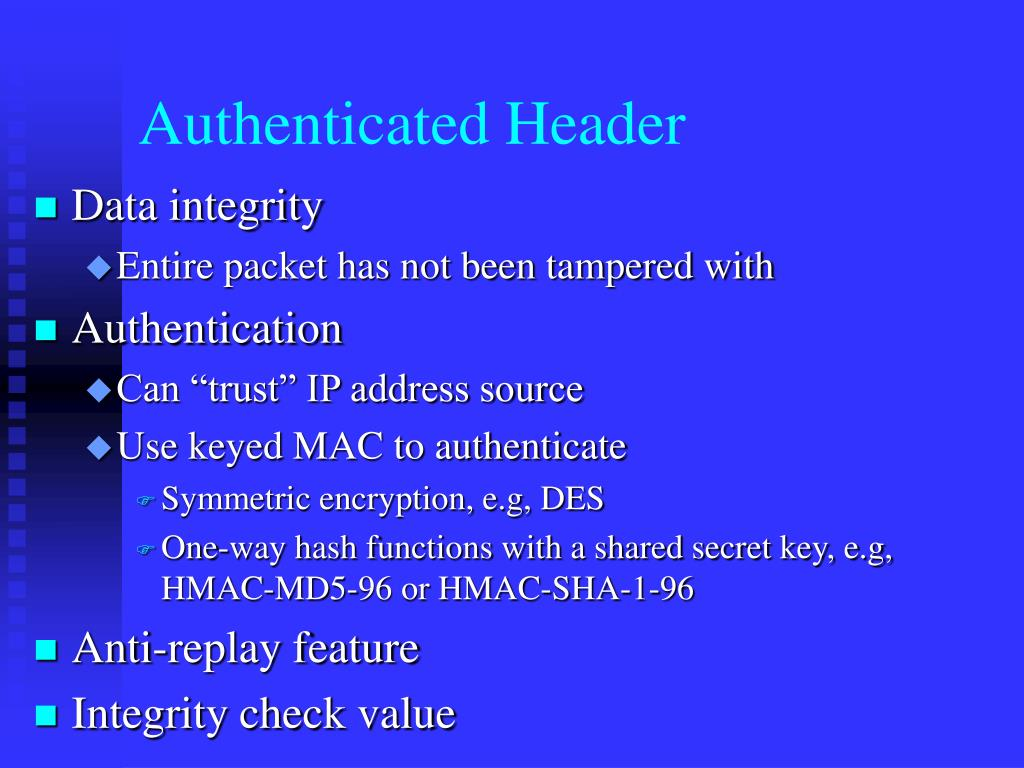 Authenticated Header