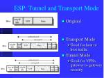 esp tunnel and transport mode