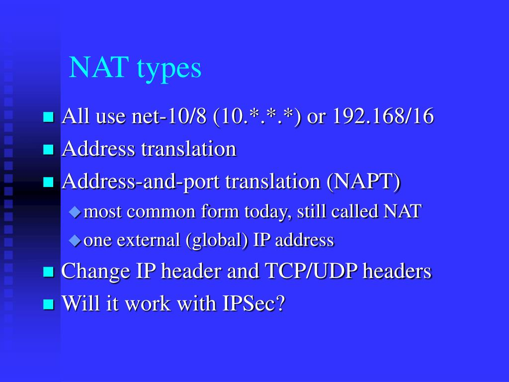 NAT types