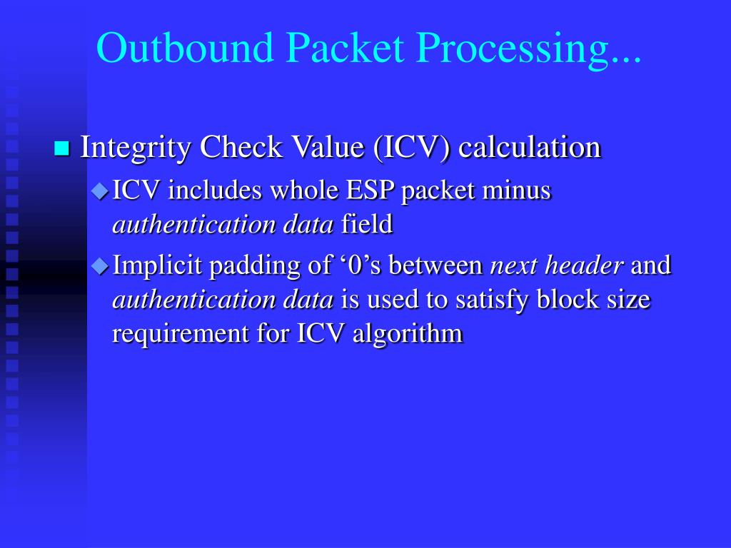 Outbound Packet Processing...