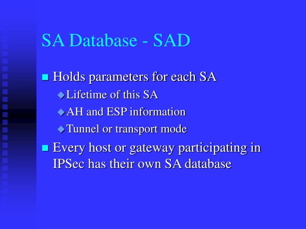 SA Database - SAD