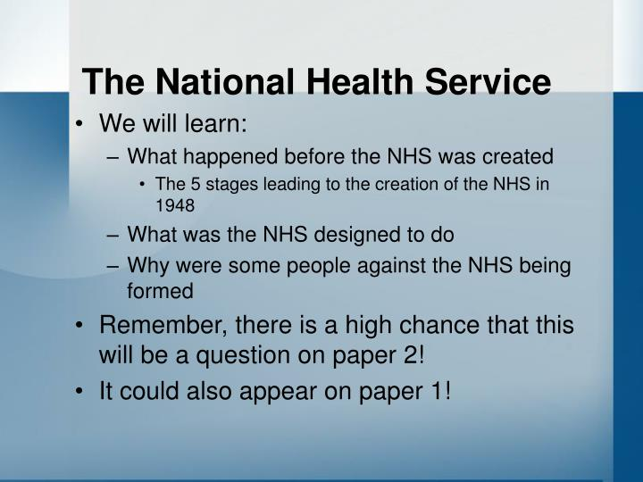 The national health service2