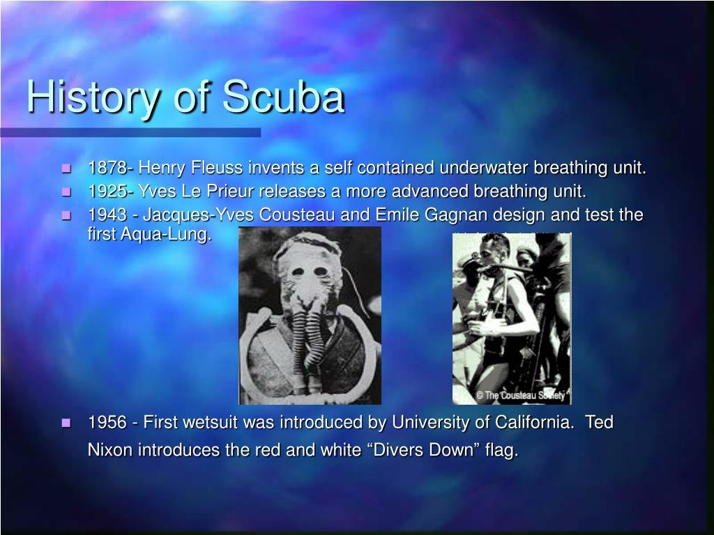 History of Scuba