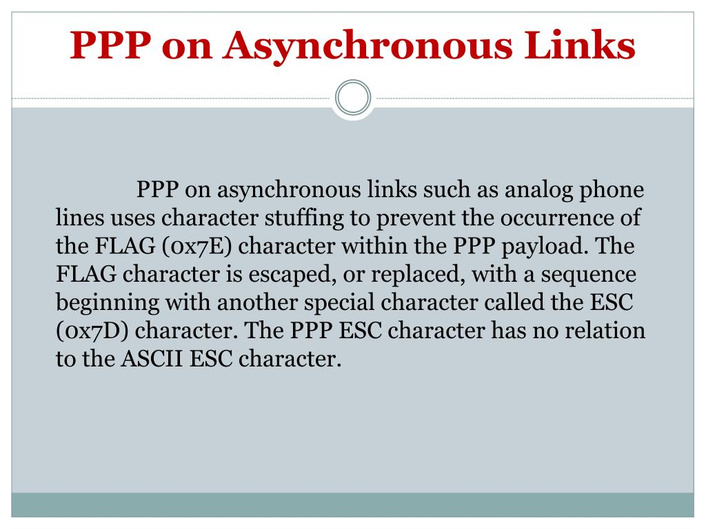 PPP on Asynchronous Links