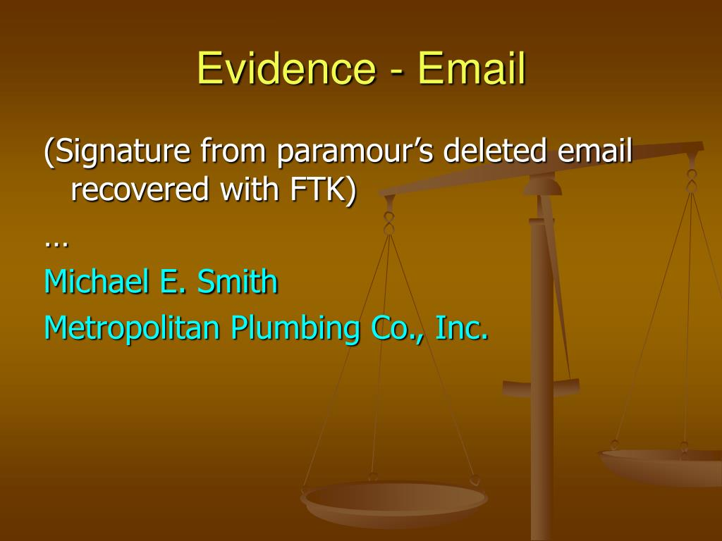 Evidence - Email