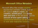 microsoft office metadata