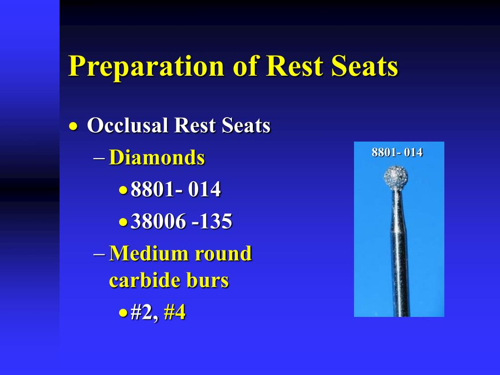 Preparation of Rest Seats