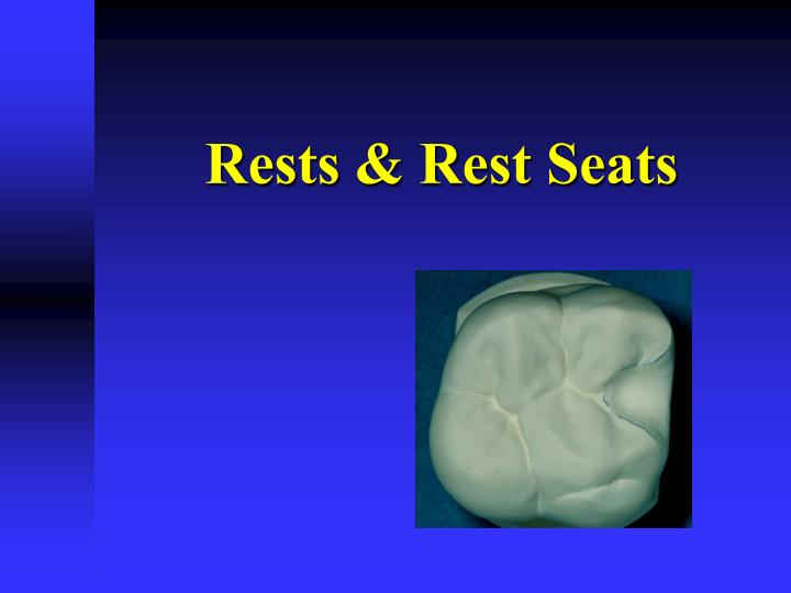 Rests rest seats