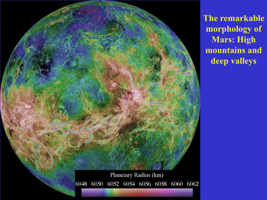 The remarkable morphology of Mars: High mountains and deep valleys