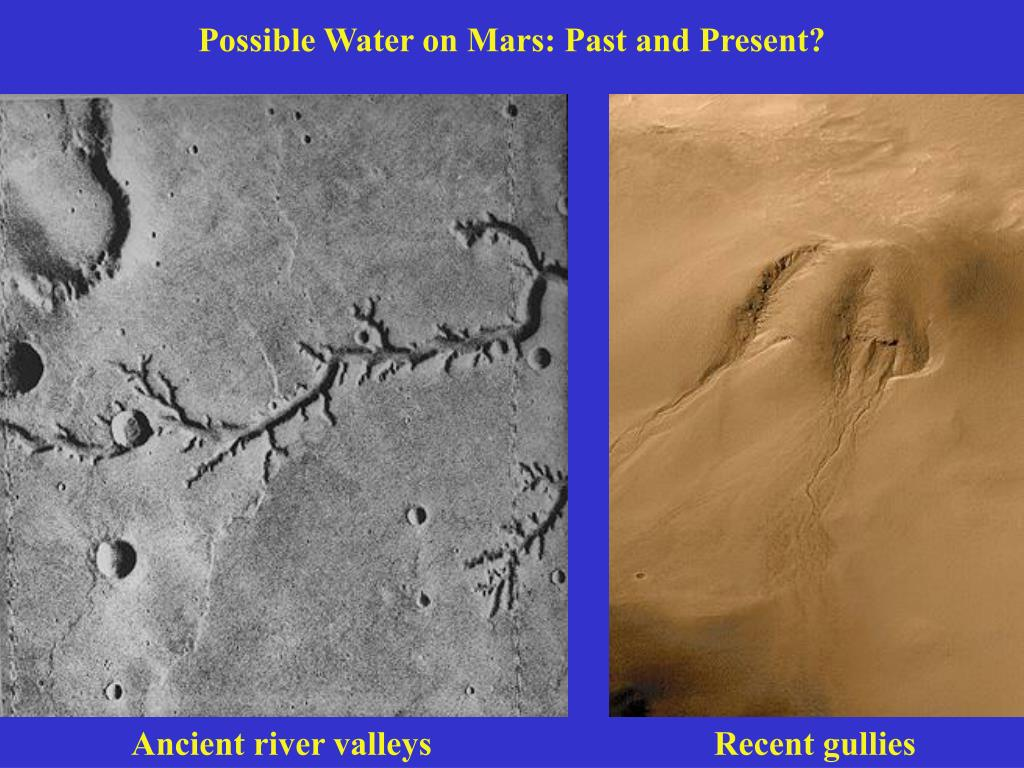Possible Water on Mars: Past and Present?