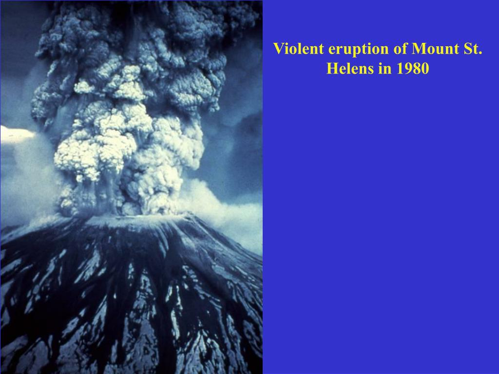 Violent eruption of Mount St. Helens in 1980