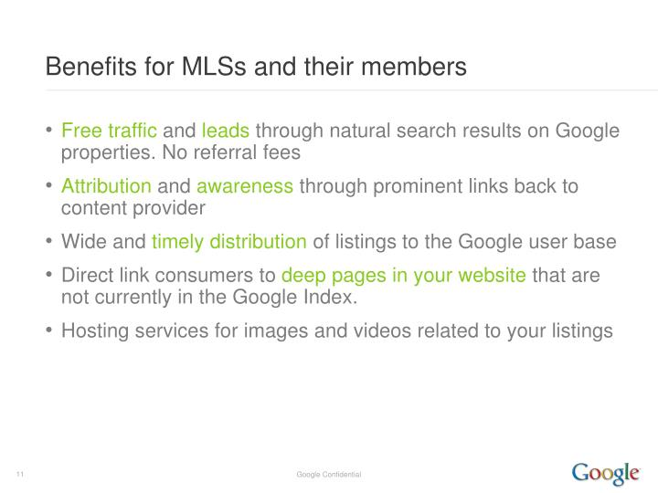 Benefits for MLSs and their members