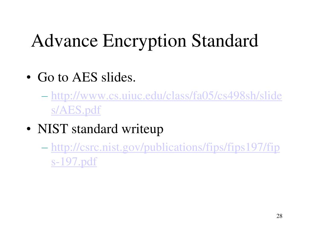 Advance Encryption Standard