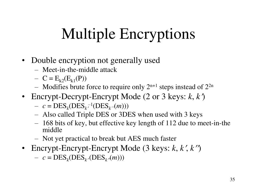 Multiple Encryptions
