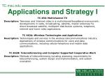 applications and strategy i