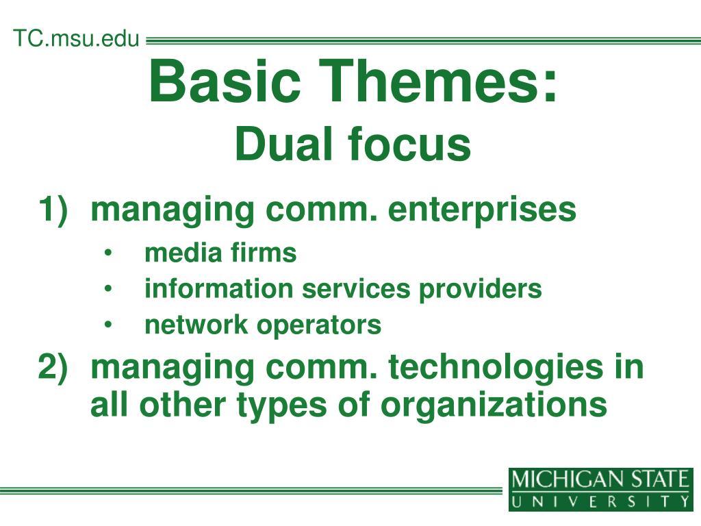 Basic Themes: