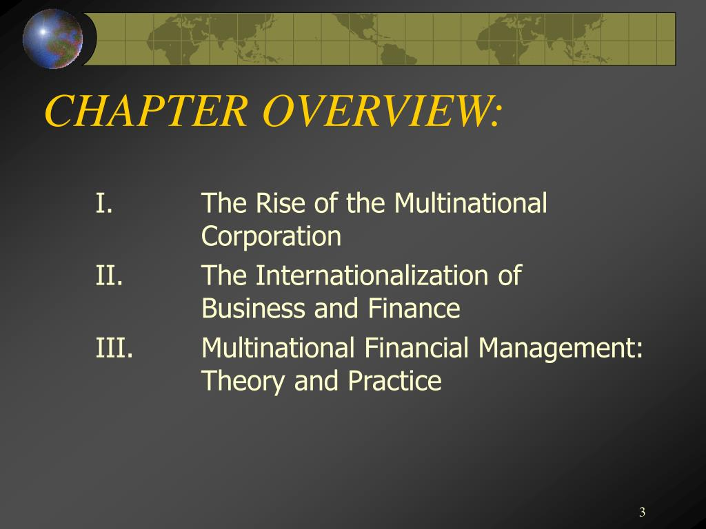 CHAPTER OVERVIEW: