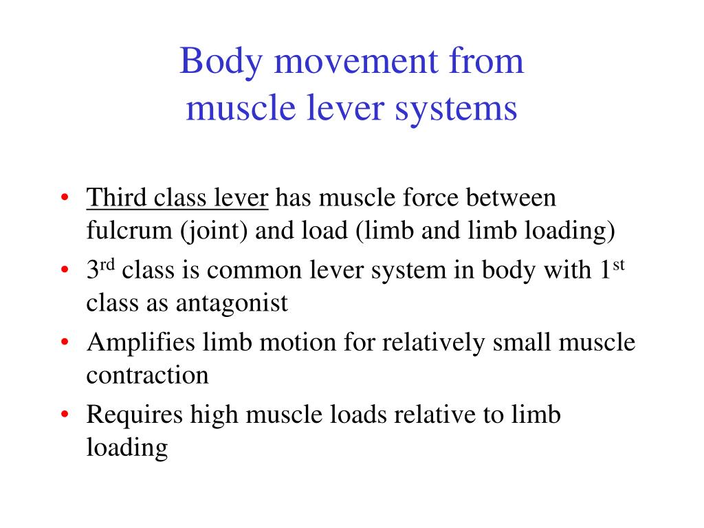 Body movement from